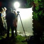 Een van de zes opstellingen voor het waarnemen van nachtvlinders (foto J.Bouma)